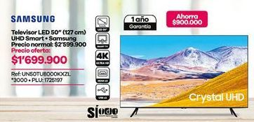 Oferta de Smart tv led 50'' Samsung por $1699900