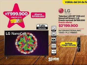 Oferta de Smart tv led 55'' por $2199900
