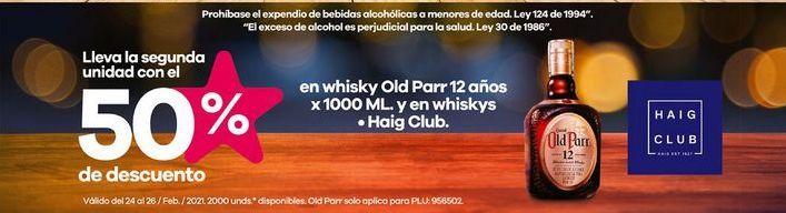 Oferta de Whisky Old Parr por