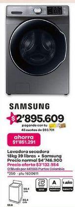 Oferta de Lavadora secadora Samsung por $3132954
