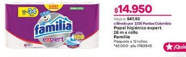 Oferta de Papel higiénico Familia por $14950