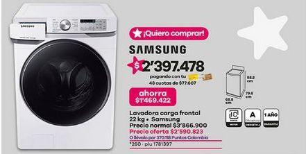 Oferta de Lavadora de carga frontal Samsung por $2590823