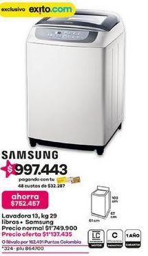 Oferta de Lavadora carga superior Samsung por $1137435