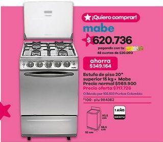 Oferta de Cocina de gas Mabe por $717726