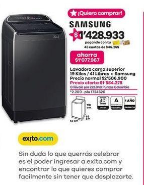 Oferta de Lavadora carga superior Samsung por $1554278