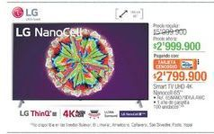 Oferta de Smart tv LG por $2999900