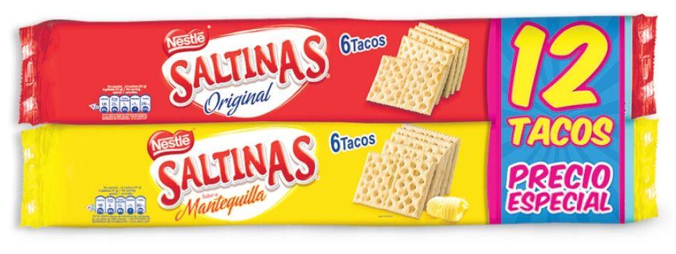Oferta de Galleta mantequilla + original Saltinas x 12 tacos por $9890