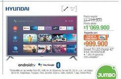 Oferta de Smart tv Hyundai por $1069900