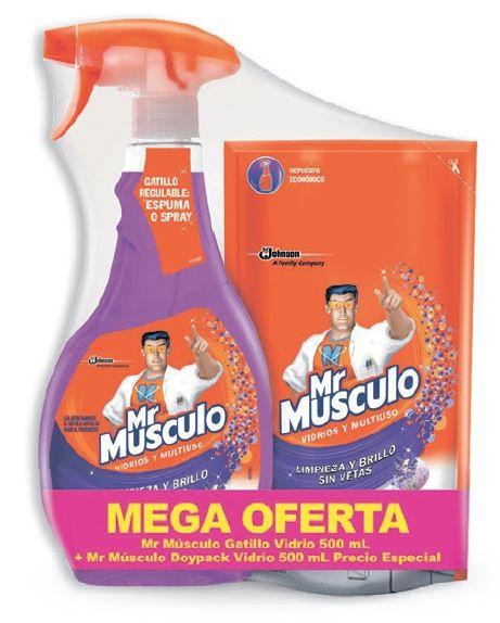 Oferta de Limpiavidrios Lavanda + Repuesto Mr. Músculo por $9390