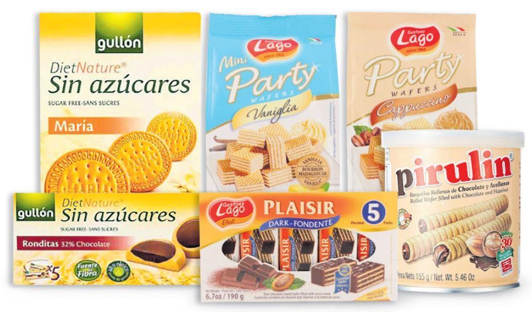 Oferta de En galletas Gastone Lago y Gullón, marca Pirulin y tabletas Lindor por