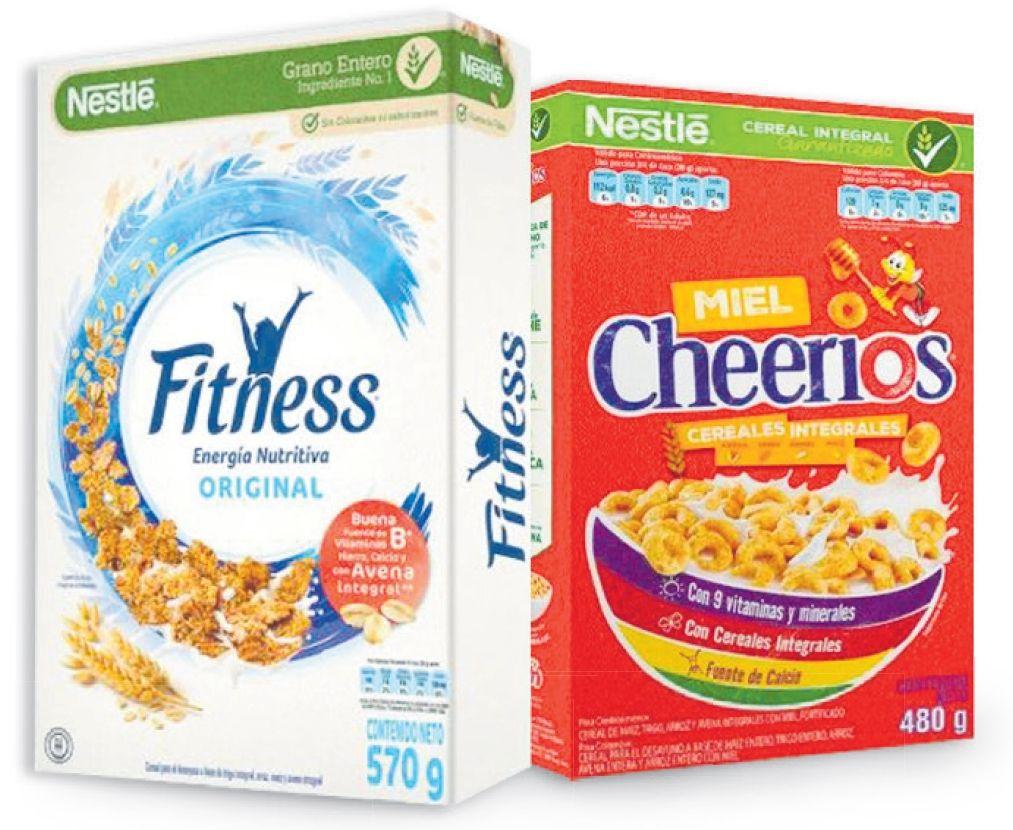 Oferta de En cereal Fitness 25% menos azúcar x 570 g  y Cheerios Miel x 480 g por
