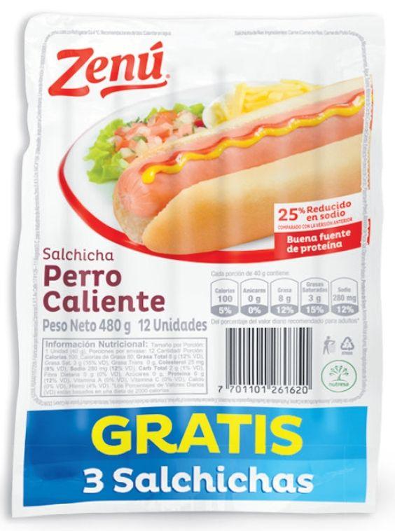 Oferta de Salchicha perro caliente Zenú por $7990