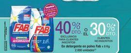 Oferta de Detergente en polvo Fab por