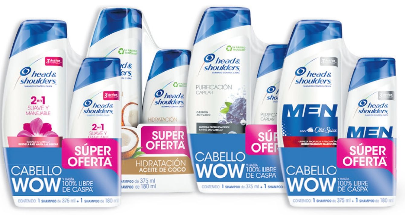 Oferta de Shampoo x 375 ml + 180 ml Head & Shoulders por $22990