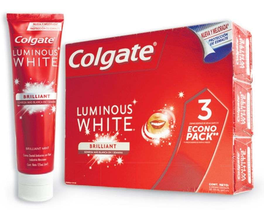 Oferta de Crema dental Luminous White Colgate x 3 unidades por $39690