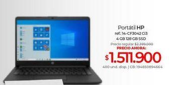 Oferta de Computador Portátil HP por $1511900