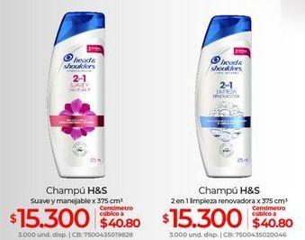 Oferta de Shampoo H&S por $15300