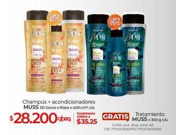 Oferta de Shampoo Muss + acondicionador por $28200