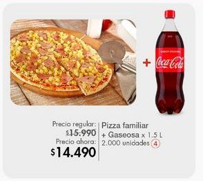 Oferta de Pizza + gaseosa por $14490
