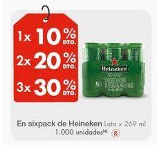 Oferta de Latas de cerveza Heineken por