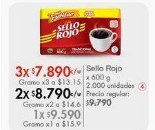Oferta de Café Sello Rojo| por $9590