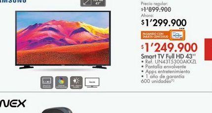Oferta de Tv led 43'' Samsung por $1249900