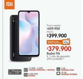 Oferta de Celulares Xiaomi redmi 9A por $379900