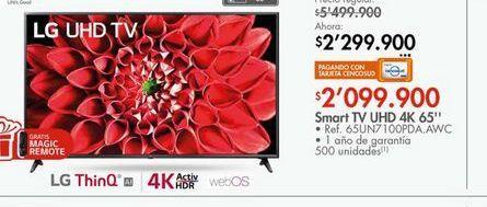 Oferta de Smart tv led 65''  por $2099900