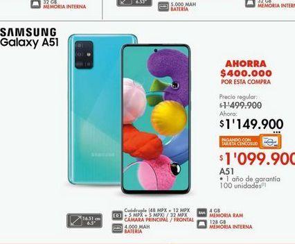 Oferta de Celulares Samsung A 51  por $1099900