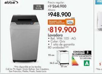 Oferta de Lavadora Abba por $819900