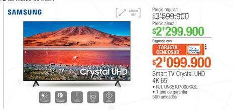 Oferta de Smart tv led Samsung por $2299900