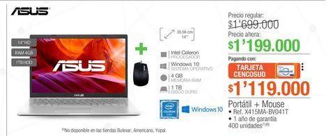 Oferta de Computador Portátil Asus por $1199000