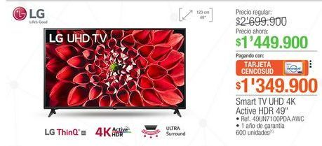 Oferta de Smart tv led LG por $1449900