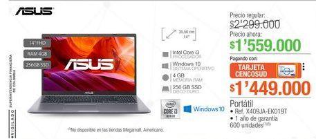 Oferta de Computador Portátil Asus por $1559000