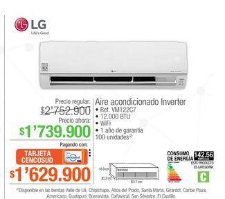 Oferta de Aire acondicionado inverter LG por $1739900