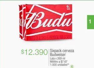 Oferta de Cerveza Budweiser por $12390