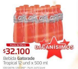 Oferta de Bebida energética Gatorade por $32100