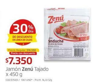 Oferta de Jamón tajado sándwich Zenú por $7350