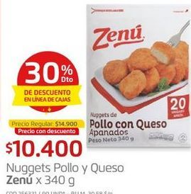Oferta de Nuggets de pollo Zenú por $10400