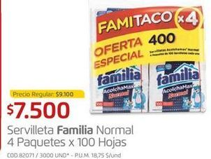 Oferta de Servilletas de papel Familia por $7500
