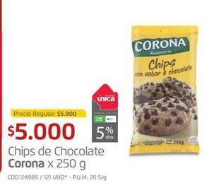 Oferta de Chips de chocolate Corona por $5000