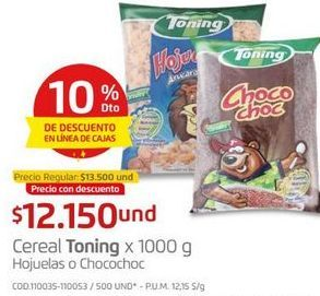 Oferta de Cereales Toning por $12150