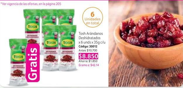 Oferta de Arándanos Tosh por $8850