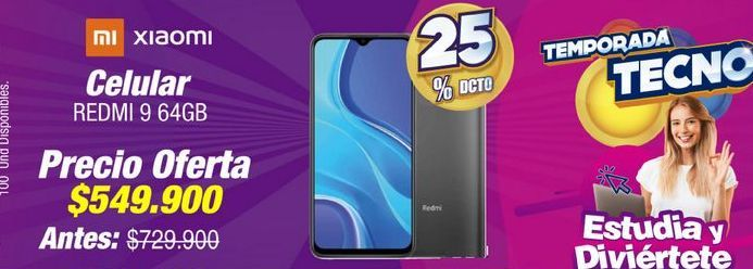 Oferta de Celulares Xiaomi por $549900