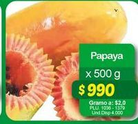 Oferta de Papayas por $990
