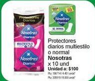 Oferta de Toallas higiénicas Nosotras por $1000