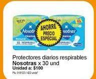 Oferta de Toallas higiénicas Nosotras por $3000