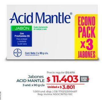 Oferta de Jabón de tocador Acid Mantle por $11403