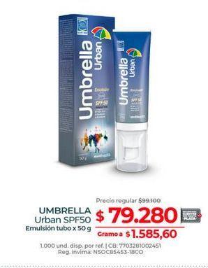 Oferta de Crema protectora solar Umbrella por $79280
