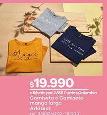 Oferta de Camiseta mujer por $19990
